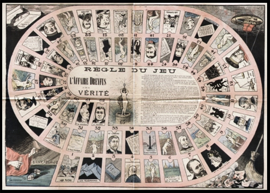 "Board game: Règle du Jeu de l'Affaire Dreyfus et de la Vérité [""The Rules of the Game of the Dreyfus Affair and the Truth""]"