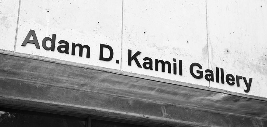 photo of the Kamil Gallery sign